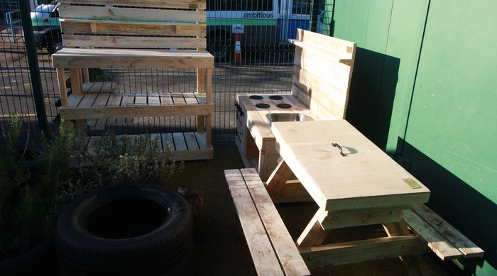 East Midlands Wood Recycling benches