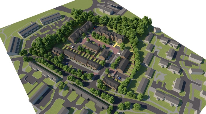Incrementum Housing Foxwood South East Aerial View 300dpi